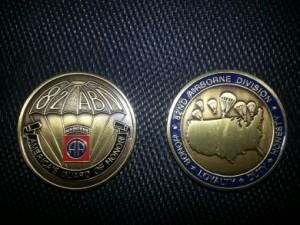 82d Paratrooper coin
