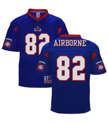 82d Airborne Blue Embroidered Football Jersey - 82nd Airborne Division  Museum 448e064e8