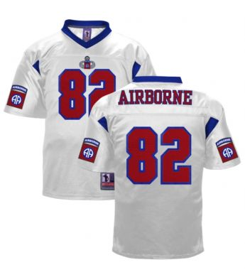 82d Airborne Embroidered White Football Jersey - 82nd Airborne ... be12eb2bd
