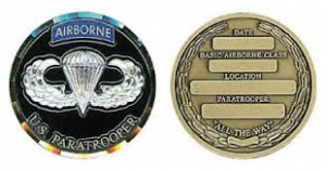Novice Paratrooper Wings coin