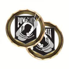 POW-MIA Challenge Coin with dog tag NEW 2010
