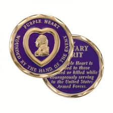 Purple Heart Wounded By the Hand of the Enemy Challenge Coin NEW 2010
