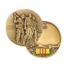 Vietnam Veteran Soldier And Ribbon Coin NEW 2010