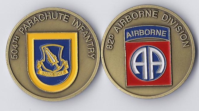 504th Parachute Infantry Regiment Challenge Coin 82nd