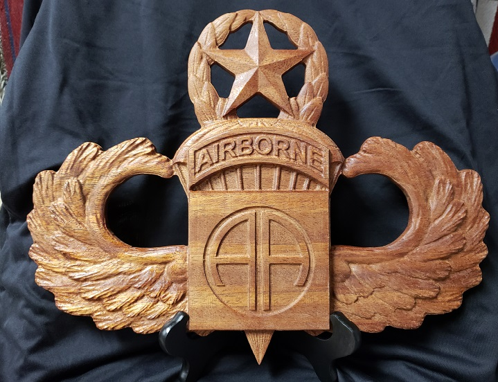 Wooden Plaques Master Wings With 82d Patch 82nd Airborne